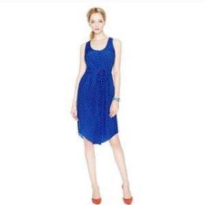 Fossil Blue Silk Dress Sleeveless Vanessa